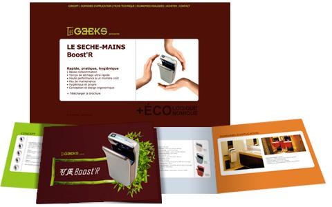 Geeks Écologie, logo, site internet, plaquette...