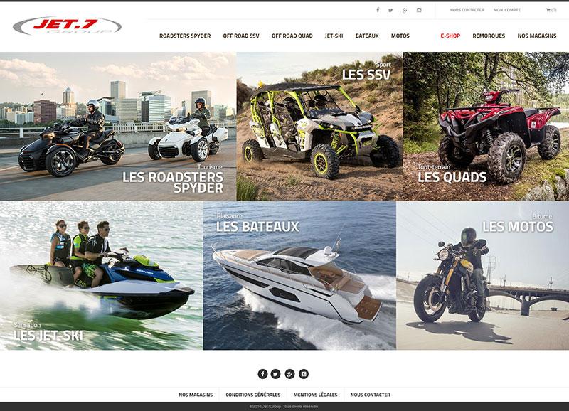 Page d'accueil du site Jet7Group.fr