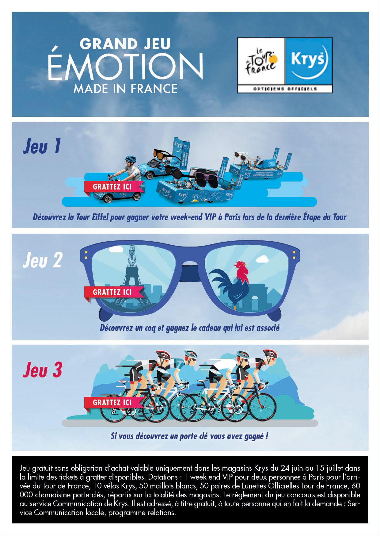 Ticket à gratter Krys Tour de France / SportMarket