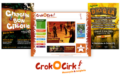 association Crok'O Cirk, affiches, site
