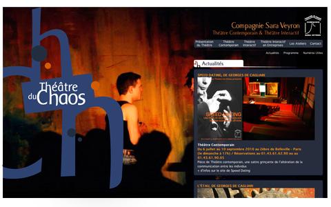 Théâtre du Chaos - page d'accueil du site internet